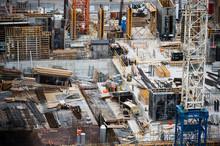 New Condominium Construction Site, Downtown Toronto, Dundas Street And Jarvis Street; Toronto, Ontario, Canada
