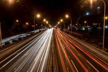 Road Traffic At Night; Beijing...