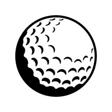 Vector Golf Ball - Black And W...
