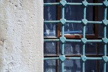 Very Old Bars On Old Windows