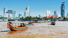Boat On Chao Phraya River ,Ban...