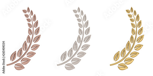 Valokuva  Laurel wreath isolated on white background. 3D illustration.