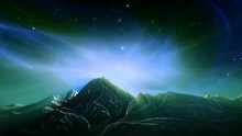 Fantasy Landscape Loop. Aurora...