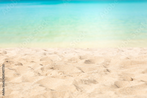 Photo sur Toile Plage Tropical beach with turquoise waters