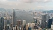 Time lapse of Hong Kong city downtown on sunny day, Victoria peak, Hong Kong