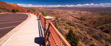 A View From The Railing In The Parking Lot Of The Jerome State Historic Park In Jerome, Arizona, USA Of The Coconino National Forest