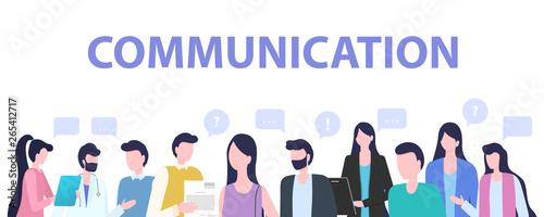Group People Cartoon Man Woman Communication Wallpaper Mural