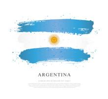 Flag Of Argentina. Vector Illustration On White Background.