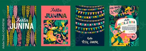 Obraz Latin American holiday, the June party of Brazil. Festa Junina. - fototapety do salonu