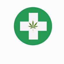 Oil Drop With A Marijuana Leaf Medical Cannabis Oil