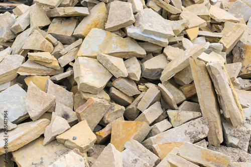 Fototapety, obrazy: Background, pile, of pieces of roughly broken raw marble stones