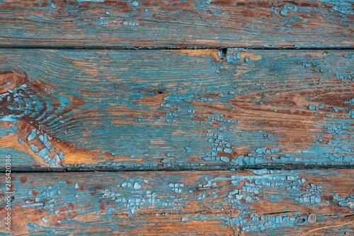 Fototapeta deska niebieska wood vintage obraz