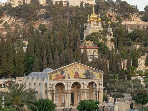 churches of mary magdalene and all nations in jerusalem Wallpaper Mural