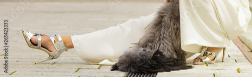 Fotografie, Obraz  Woman wearing crop top and culottes