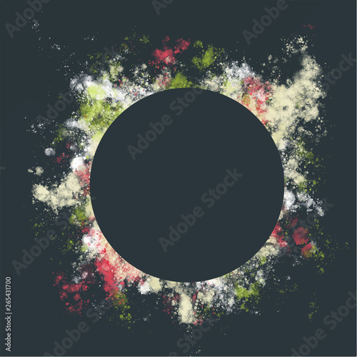Vector Frame With A Colorful Splash Around The Center Copy