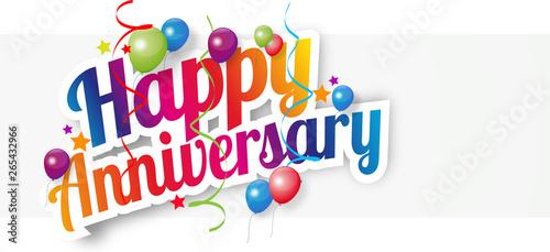 Happy anniversary Tablou Canvas