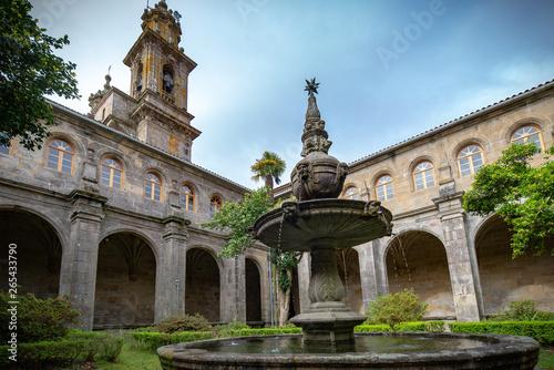 Monasterio con hórreo  de San Xoan de Poio ,Pontevedra  en España Wallpaper Mural