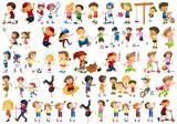 Fototapeta Fototapety na ścianę do pokoju dziecięcego - Set of children character