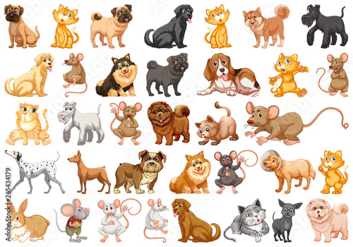 Poster Kids Set of pet character
