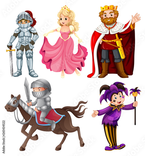 Poster Kids Set of medieval cartoon character