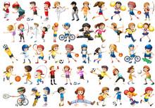 Set Of Sport Kids Character