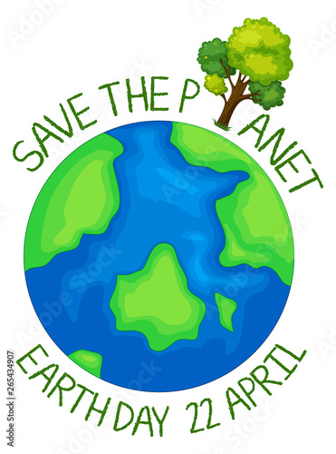 In de dag Kids Save the planet icon