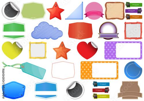 In de dag Kids large set of labels