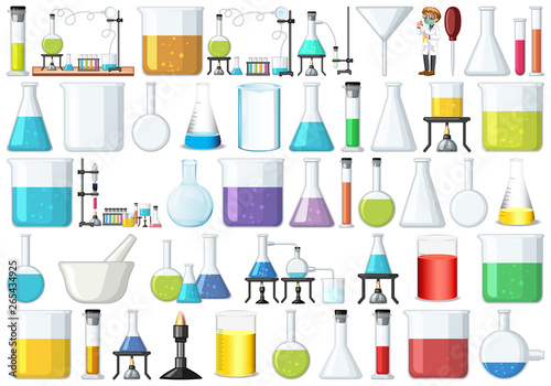Poster Kids Set of lab tools