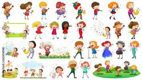 In de dag Kids Set of musician character