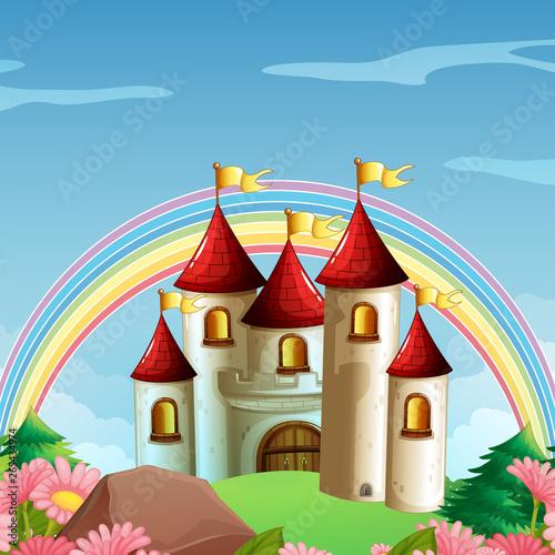 In de dag Kids A fairy tale scene