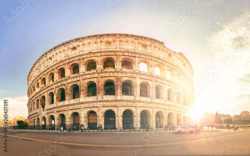 Poster Con. Antique colosseum in rome italy