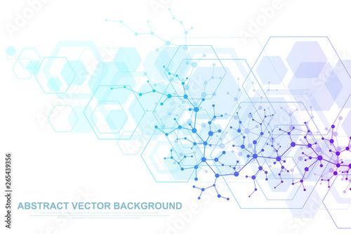Scientific molecule background for medicine, science, technology, chemistry Fototapet