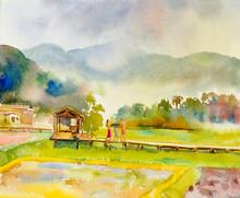 Painting Watercolor Landscape ...