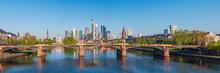 Frankfurt City With Sunrise An...