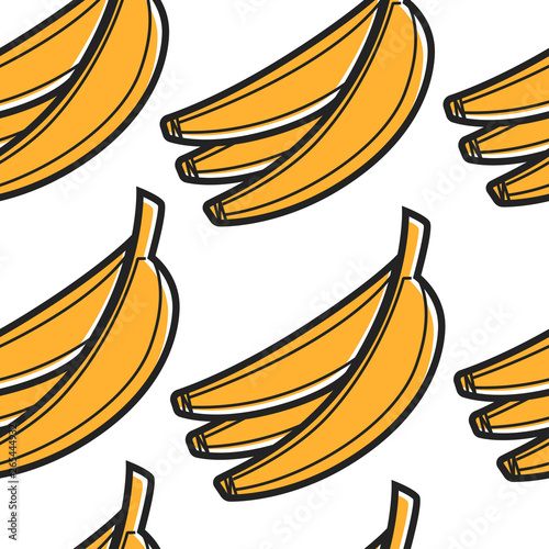 Valokuva South African food banana bunch seamless pattern