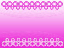 Pink Circles Connected In A Ro...