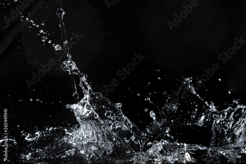 water splash black background backdrop fresh feeling