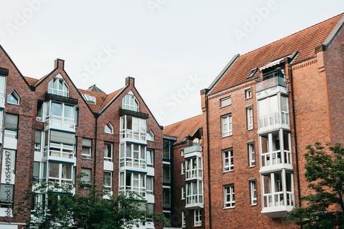 Residential buildings in Muenster in Germany Wallpaper Mural