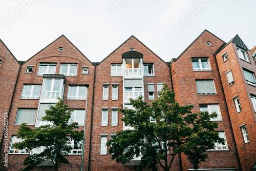Residential buildings in Muenster in Germany Canvas Print