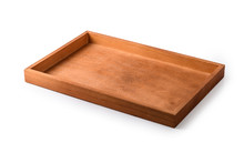Wooden Tray On A White Backgro...