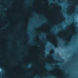 Kolorowy zima niebieski atrament i akwarela tekstury na tle białej księgi. Wycieki farby i efekty ombre. Ręcznie malowane abstrakcyjny obraz. Głębokie morze. - 265456349