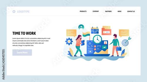 Photo  Vector web site design template