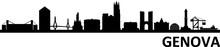 Genova City Skyline Silhouette