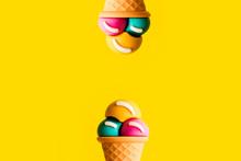 Ice Cream Cone Plastic Toy Ass...
