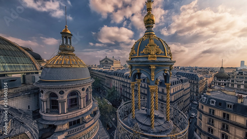 Paris roofs viewed from Haussmann boulevard Poster Mural XXL
