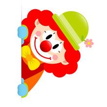 Clown Rote Haare Banner Vertikal