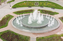 Beautiful Street Fountain - View From Above