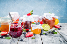 Assortment Of Berry And Fruit Jams