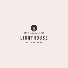 Lighthouse Logo Vector Icon Li...