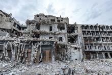 La Ville  Alep En Syrie Après...